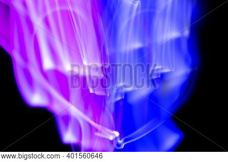 Abstract Purple Light Background, Slow Motion Long Exposure Photography