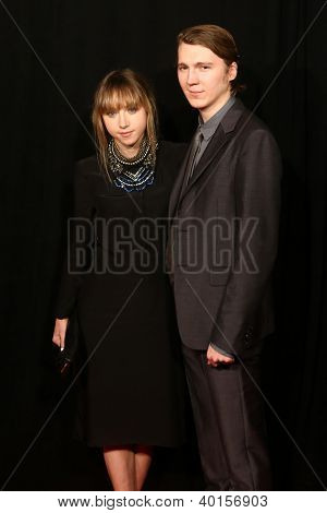 NEW YORK-DEC 10: Actress Zoe Kazan and Paul Dano attend the premiere of