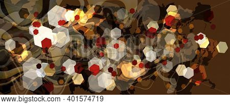 Abstract Multicolor Hecagonal Cells Background Layered Eps10 Vector Illustration. You Can Add Your O