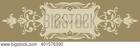 Vector Decorative Isolated Cartouche (banner) For Creating Titles And Captions
