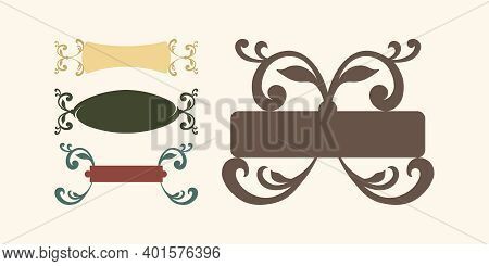 Vector Decorative Isolated Cartouches (banners) For Creating Titles And Captions