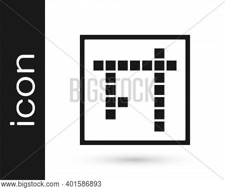 Black Bingo Icon Isolated On White Background. Lottery Tickets For American Bingo Game. Vector