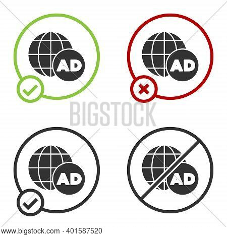 Black Advertising Icon Isolated On White Background. Concept Of Marketing And Promotion Process. Res