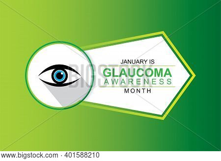 Vector Illustration Of Glaucoma Awareness Month Concept Poster Design