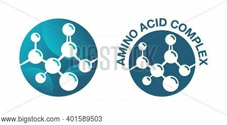 Amino Acid Complex Icon - Organic Compounds Monomers That Make Up Proteins And Used In Food Industry