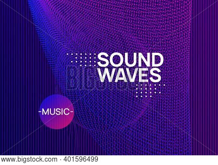 Music Fest. Dynamic Fluid Shape And Line. Creative Discotheque Banner Design. Music Fest Neon Flyer.
