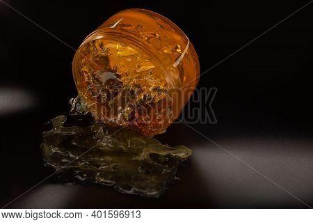 Cream Gel Cosmetic Lubricant Background Transparent Smudge Yellow Orange