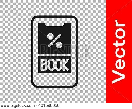 Black Cruise Ticket For Traveling By Ship Icon Isolated On Transparent Background. Travel By Cruise