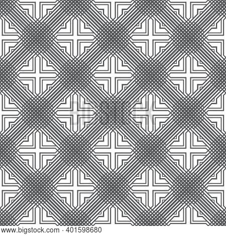 Seamless Pattern. Infinitely Repeating Modern Geometrical Texture Consisting Of Small Rhombuses, Cro