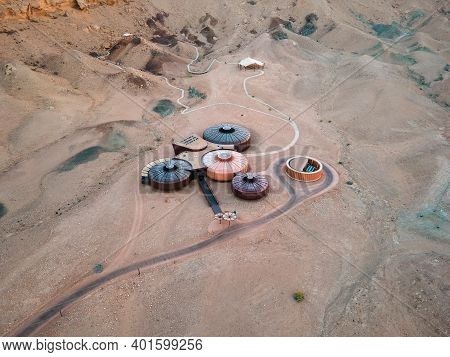 Sharjah, United Arab Emirates - October 22 , 2020: Buhais Geology Park Displaying Different Natural