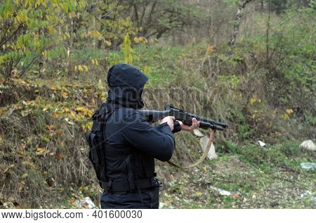 Unformal shooting range near Kiev. November 17, 2020. Kiev Region, Ukraine