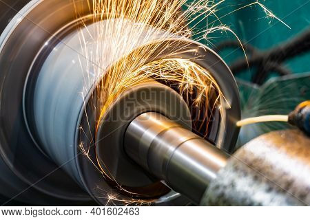 Internal Grinding Of The Workpiece With An Abrasive Wheel On A Circular Grinding Machine.