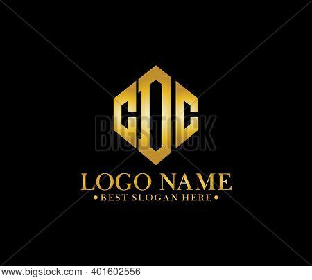 Cdc Diamond Alphabet Modern Logo Design Concept