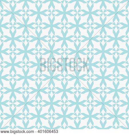 Abstract Geometric Seamless Pattern. Subtle Vector Texture With Curved Shapes, Grid, Lattice, Crosse