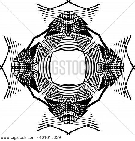 Arabesque Background Structural Pagoda Element From Inside Black On Transparent Background