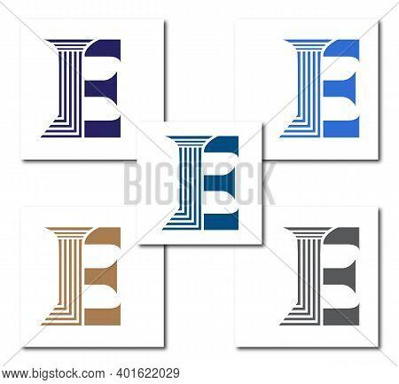 E Law Firm Logo Design Concept Company