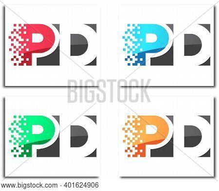 Pd Pixel Creative Logo Design Company Concept