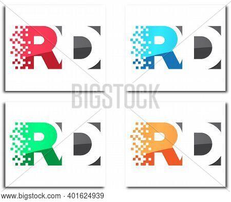 Rd Pixel Creative Logo Design Company Concept