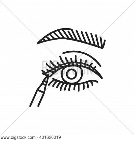 Apply Eyeliner Line Color Icon. Sign For Web Page, Mobile App