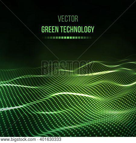 Green Technology Background. Green Energy Vector Illustration Eps10. Team Communication Concept Gree