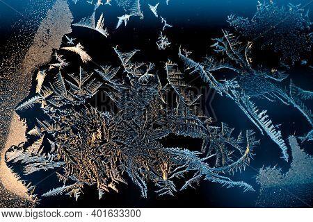 Winter frost on the window