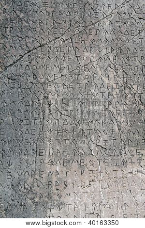 Text On The Stone