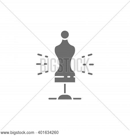 Tailor Mannequin Torso, Sewing Mannequin Grey Icon.