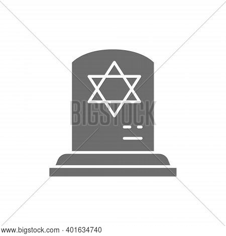Tombstone With The Star Of David, Gravestones, Grave Gray Icon.