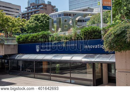 Vancouver, Canada - June 29,2020: Ubc Robson Square Is An Extension Of The Ubc Point Grey Campus In