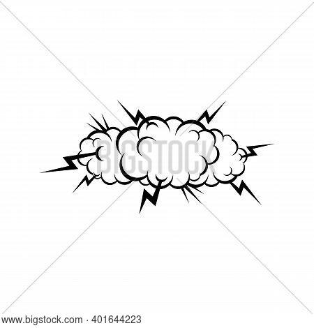 Burst Explosion Isolated Comic Clouds. Vector Cartoon Bomb Burst, Bang Symbol