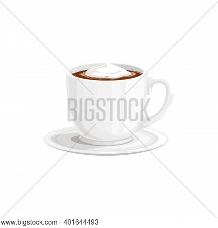 Chocolate Hot Cup Or Cocoa Drink Mug And Coffee, Vector Icon. Hot Chocolate Or Cocoa Sweet Drink Wit