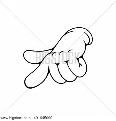 Finger Pointing On You Isolated Hand Gesture, Control Sign. Vector Index Forefinger Showing Directio
