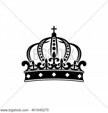 Royal Crown Isolated King Or Queen Symbol. Vector Monarch Or Emperor Headwear, Royalty Sign