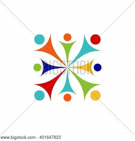 Unity People Logo, Icon, Symbol, Isolated On White Background