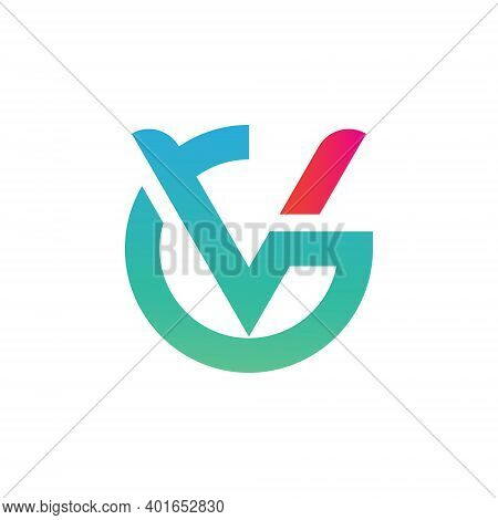 V And G Letter Logo Icon Vector