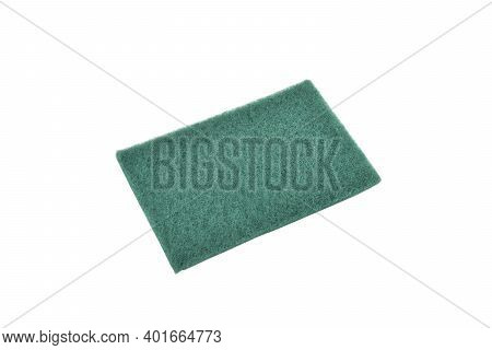 Scouring Pad Isolated On White Background, Scrubbing Pad