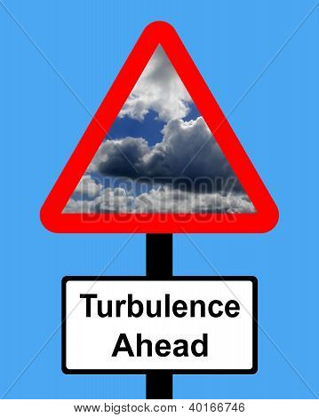 ADVERTENCIA turbulencia por delante