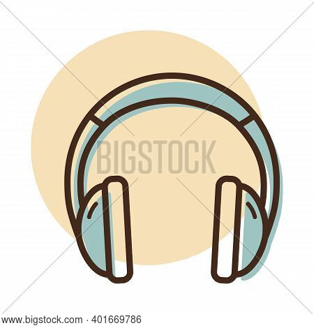 Headphones Vector Icon. Music Sign. Graph Symbol For Music And Sound Web Site And Apps Design, Logo,