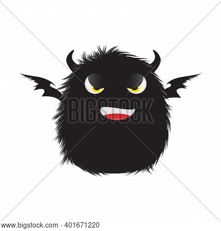 Cartoon Monster Characters. Halloween Funny Monsters, Cute Fluffy Alien Mascots, Silly Gremlin Monst