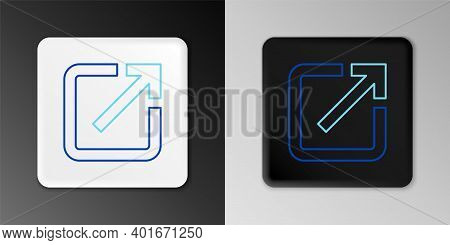Line Open In New Window Icon Isolated On Grey Background. Open Another Tab Button Sign. Browser Fram