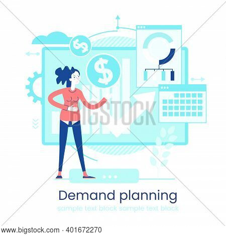 Marketing Accounting Concept. Finance Management. Marketing Investment. Digital Auditing, Business P