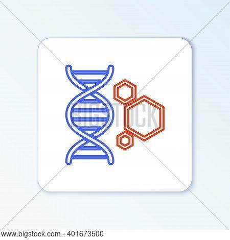 Line Genetic Engineering Icon Isolated On White Background. Dna Analysis, Genetics Testing, Cloning,
