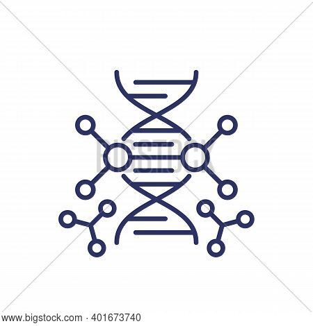 Genetic Engineering And Dna Modification Line Icon