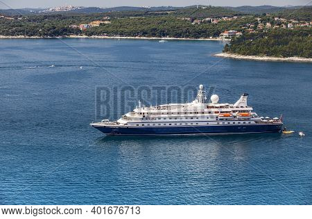 Rovinj, Croatia - June 15, 2013: Sea Dream I Yacht In A Bay Near Rovinj