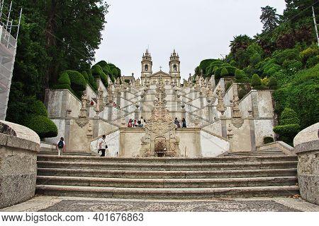 Braga, Portugal - 13 May 2015: Bom Jesus Do Monte Church In Braga City, Portugal