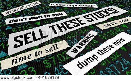 Sell These Stocks Market Advice Recommendation Tips 3d Animation