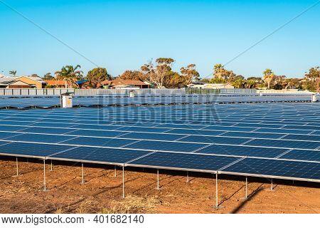 New Solar Panel Farm Near O'sullivan Beach, South Australia