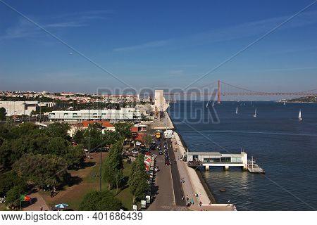 Belem, Lisbon, Portugal - 10 May 2015: Padrao Dos Descobrimentos In Belem, Lisbon City, Portugal