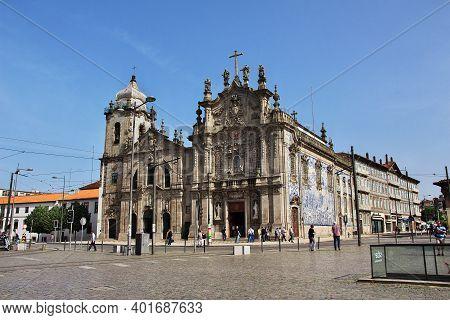 Porto, Portugal - 12 May 2015: Igreja Do Carmo, The Vintage Church In Porto City, Portugal