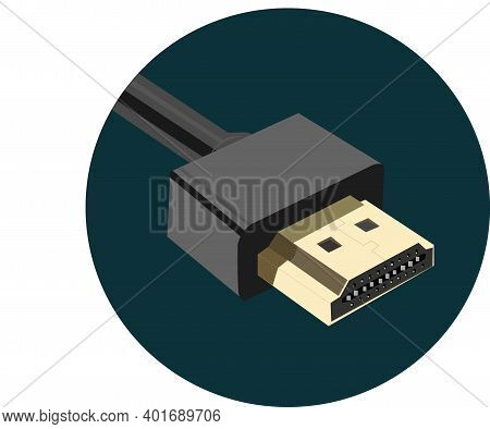 Hdmi Plug High Definition Media Interface Vector Illustration